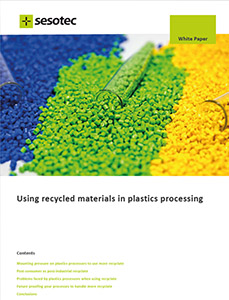 """The new white paper from Sesotec: Concentrated information about """"Using recycled materials in plastics processing"""""""