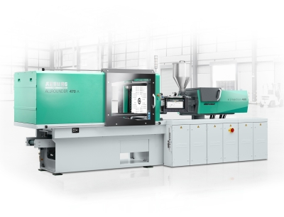 At Moldplast 2021, an electric Allrounder 470 A with 1,000 kN clamping force and Gestica control system will produce a box and clip for storing face masks