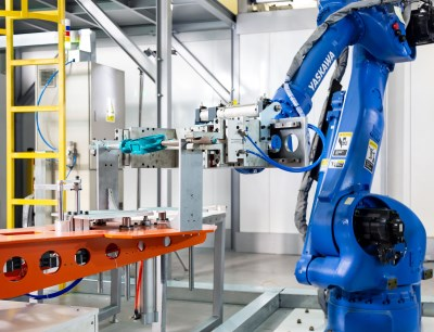 Most modern robot technology in the production process of the Gemü R480 butterfly valve