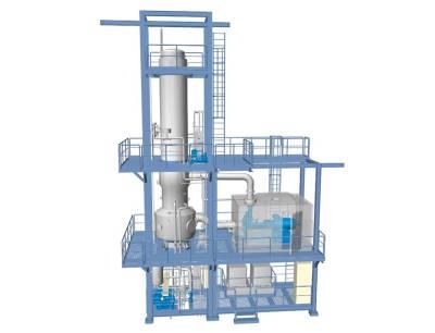 Caption: A 3D graphic of the Gea evaporator