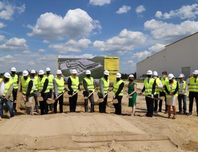 Groundbreaking ceremony for the extension of Südpack Klobuck