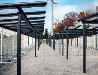 Modern bicycle parking spaces for employees are part of Vetter's long-term sustainability strategy