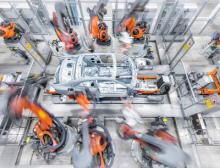 Audi is relying on cooperation with Kuka for the body-in-white production of two important volume models