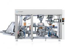 Compact lightline cartonpacker is part of a packaging line for contract manufacturer Hudsonville Creamery & Ice Cream
