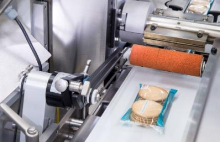 The Bosch Pack 403 horizontal flow wrapper achieves an output of up to 800 products per minute